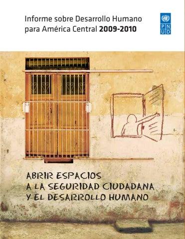 ... la seguridad ciudadana y el desarrollo humano Informe sobre Desarrollo  Humano para América Central IDHAC 63f4627e1075c