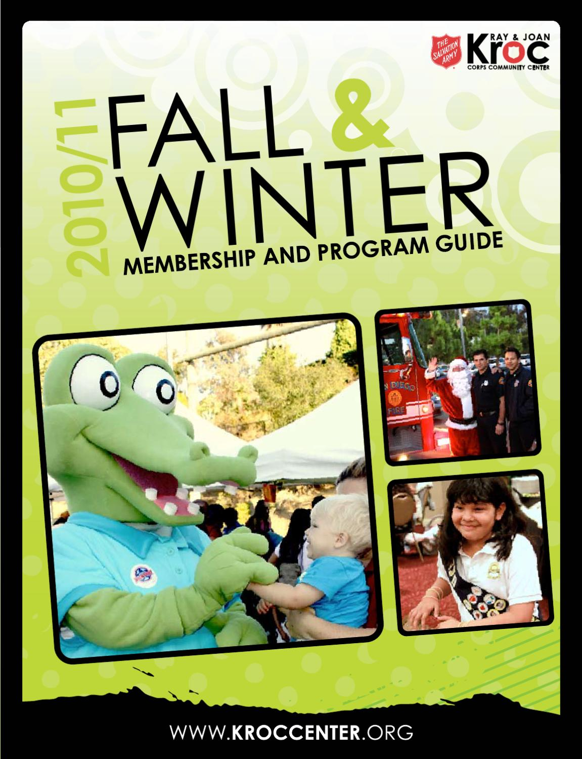The Salvation Army Kroc Center Fall & Winter 2010/11 Program Guide ...