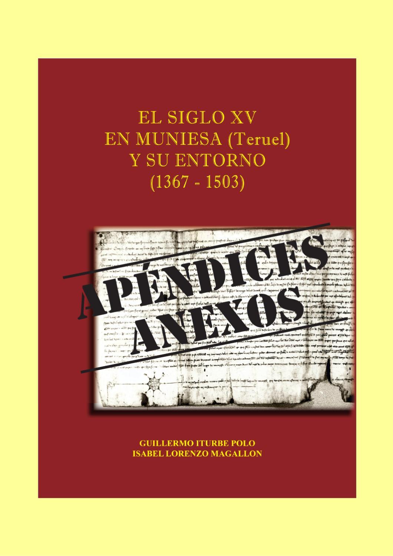 Anexos Al Libro El Siglo Xv En Muniesa Teruel Y Su Entorno  # Muebles Jover Teruel