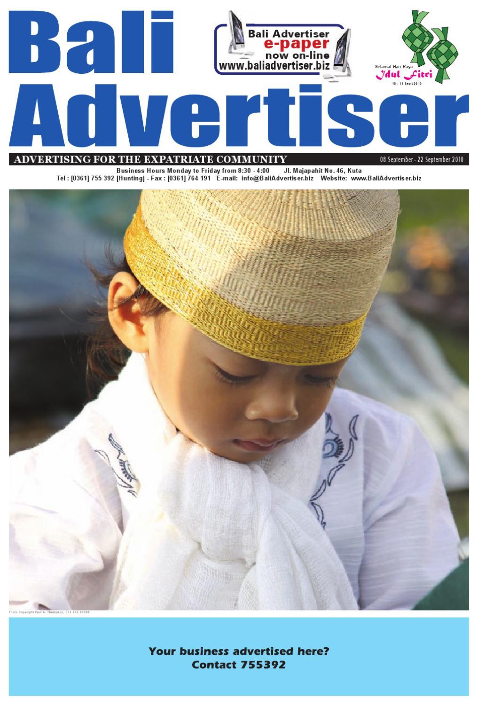 08 September 2010 By Bali Advertiser Issuu Tendencies Caps White Way Of Life Cap Putih