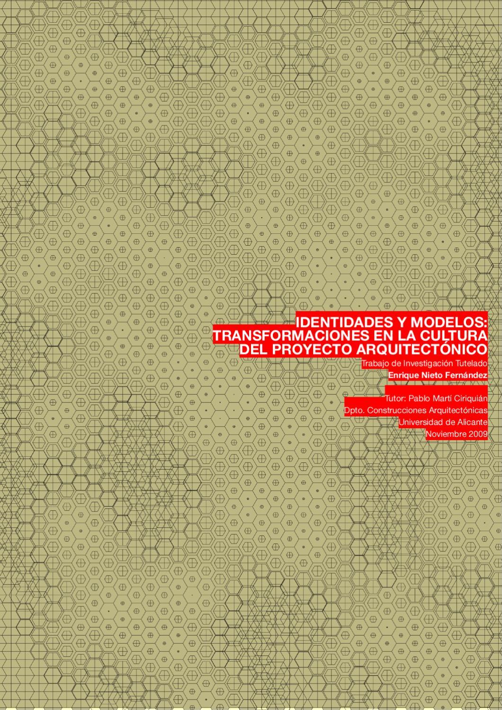 IDENTIDADES Y MODELOS:Transformaciones en la cultura del proyecto ...
