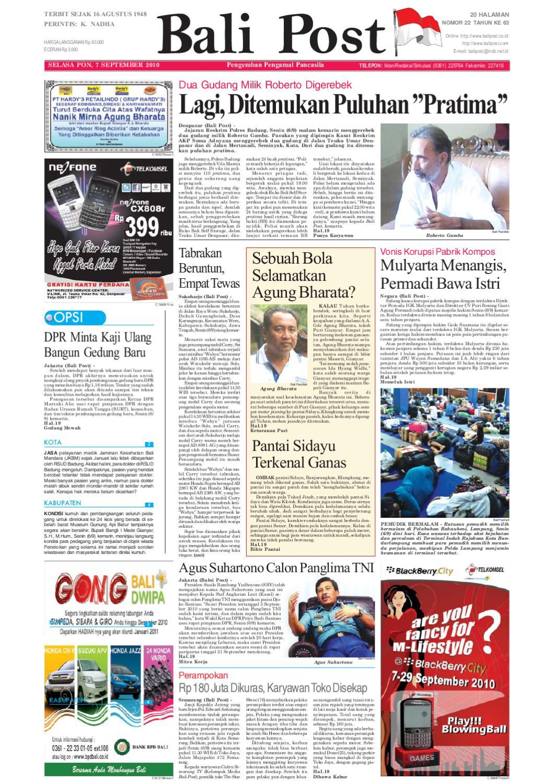 Edisi 26 Agustus 2011 Balipostcom By E Paper Kmb Issuu Rkb Tegal Produk Ukm Bumn Emping Ubi 07 September 2010