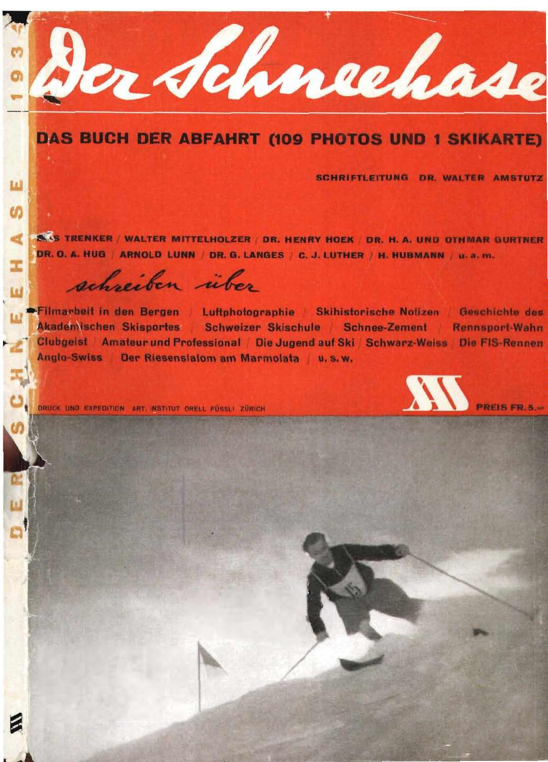 Nr 8 1934 By Swiss Academic Ski Club Issuu
