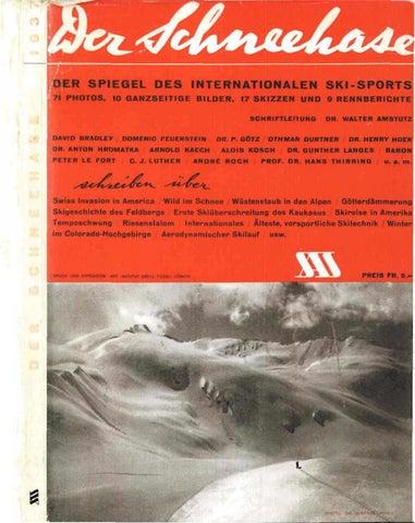 Nr 11 1937 By Swiss Academic Ski Club