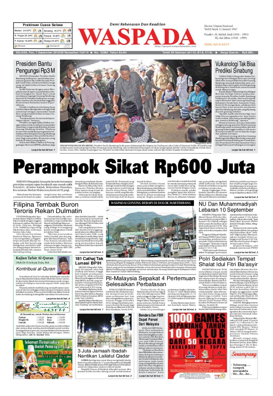Waspada Selasa 7 September 2010 By Harian Issuu Produk Ukm Bumn Tenun Pagatan Kemeja Pria Biru Kapal