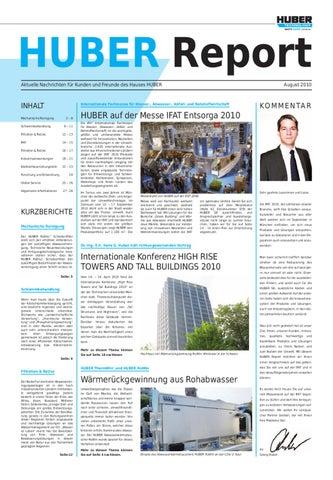 Huber Report - Ausgabe 2/2010, deutsch by SE HUBER - issuu