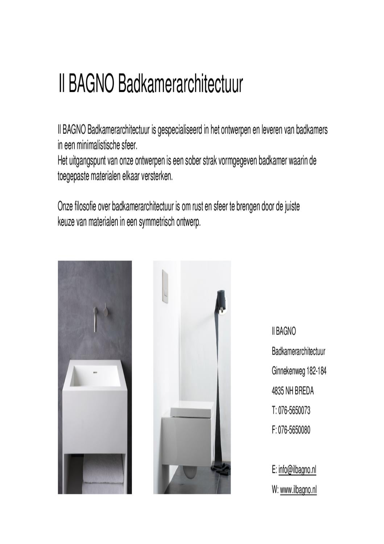 Il bagno badkamerarchitectuur by il bagno - Il bagno group ...