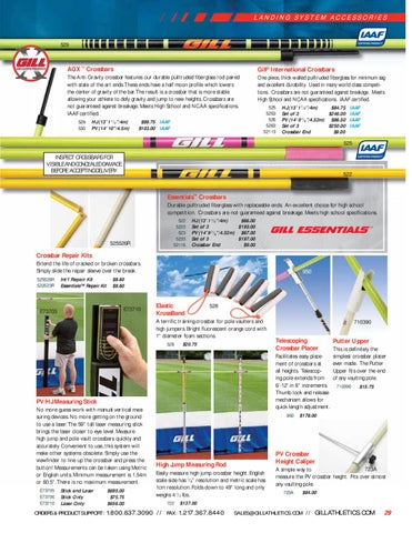 Gill Athletics Telescoping Crossbar Placer