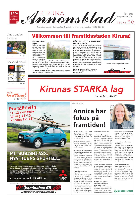 newest collection c42f6 78dc9 Kiruna Annonsblad 2010 v.36 by Svenska Civildatalogerna AB - issuu