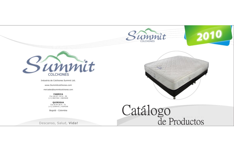 Cat logo de productos 2010 by colchones summit ltd issuu - Catalogo de colchones ...