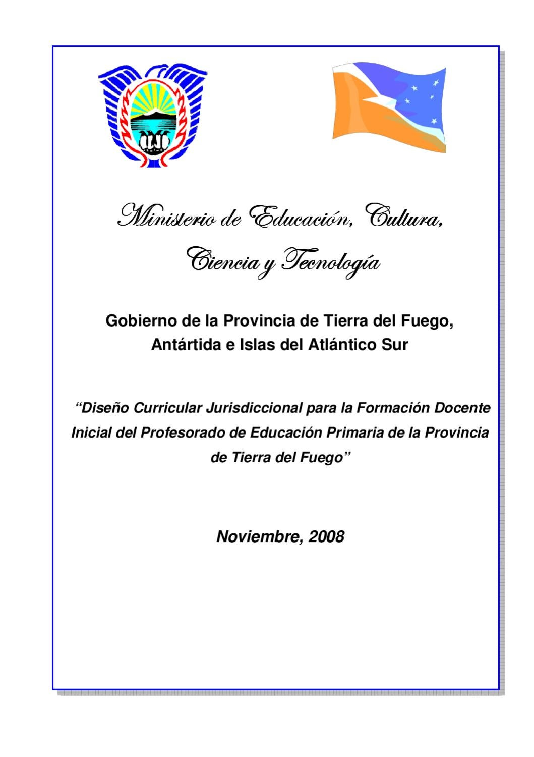 Dise o curricular formaci n primaria by i p e s paulo for Diseno curricular de educacion inicial