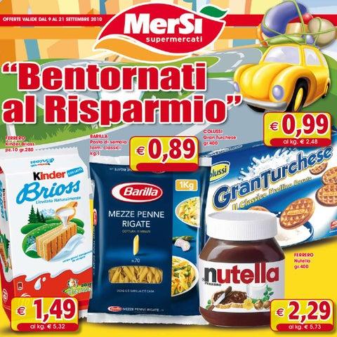 Volantino offerte mers valide dal 09 09 al 21 09 by for Volantino offerte despar messina