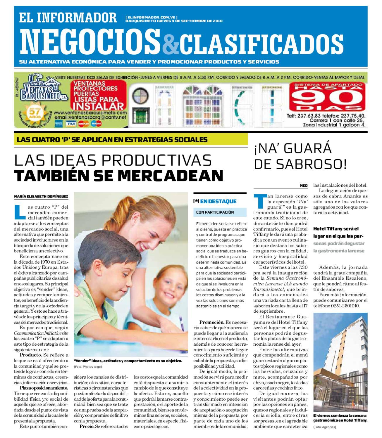 Negocios Y Clasificados 2010 09 09 By El Informador Diario  # Muebles Paquita Santa Cruz De La Zarza