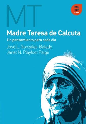 Madre Teresa De Calcuta Un Pensamiento Para Cada Dia Khaf By