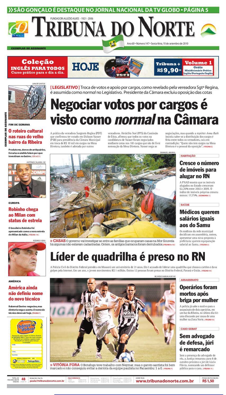 Tribuna do Norte - 10 09 2010 by Empresa Jornalística Tribuna do Norte Ltda  - issuu e622e9a323227