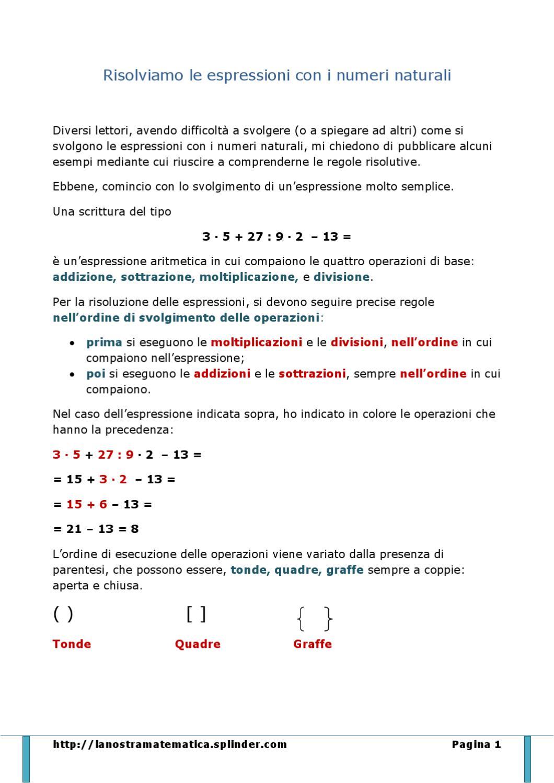Espressioni Aritmetiche By Annarita Issuu