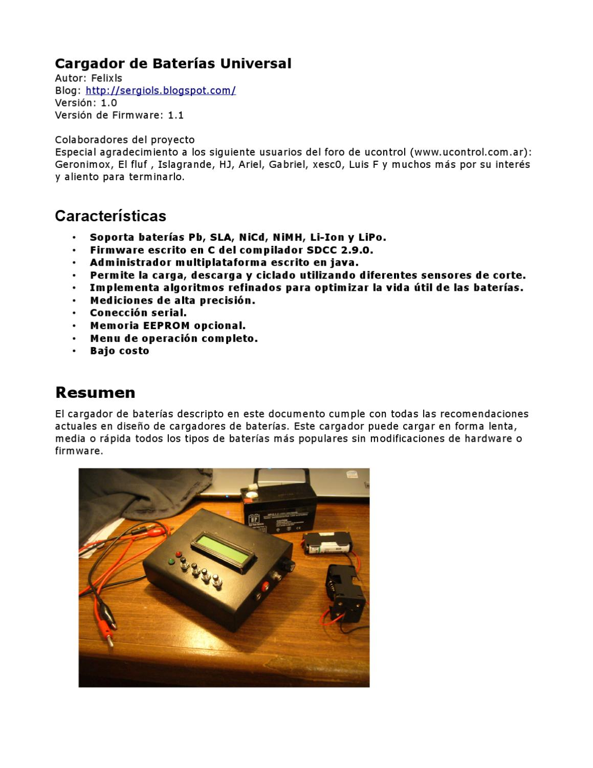 Universal Battery Charger By Felixls Felix Issuu Nicad Fet Irf9530