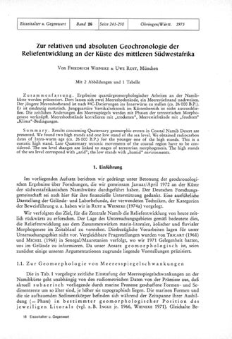 Geochronologie relative Datierung