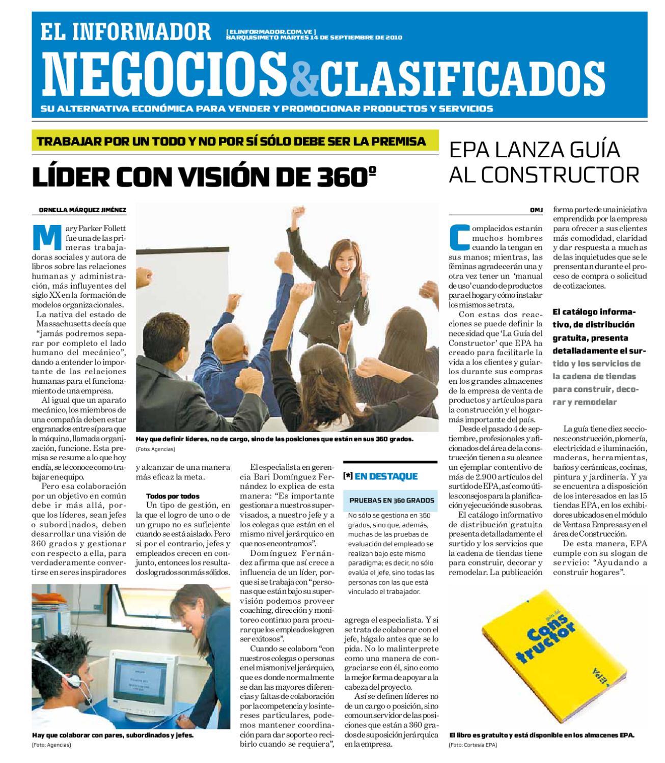 Negocios Y Clasificados 2010 09 14 By El Informador Diario  # Muebles Paquita Santa Cruz De La Zarza