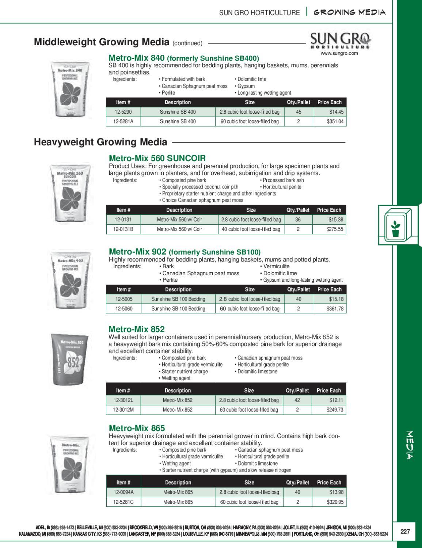 2010-2011 BFG Horticultural Supplies Catalog Media by BFG