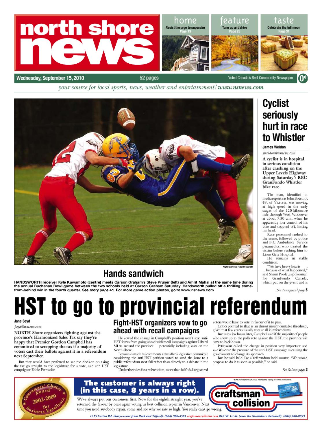 e2884c0d18 North Shore News September 15 2010 by Postmedia Community Publishing ...