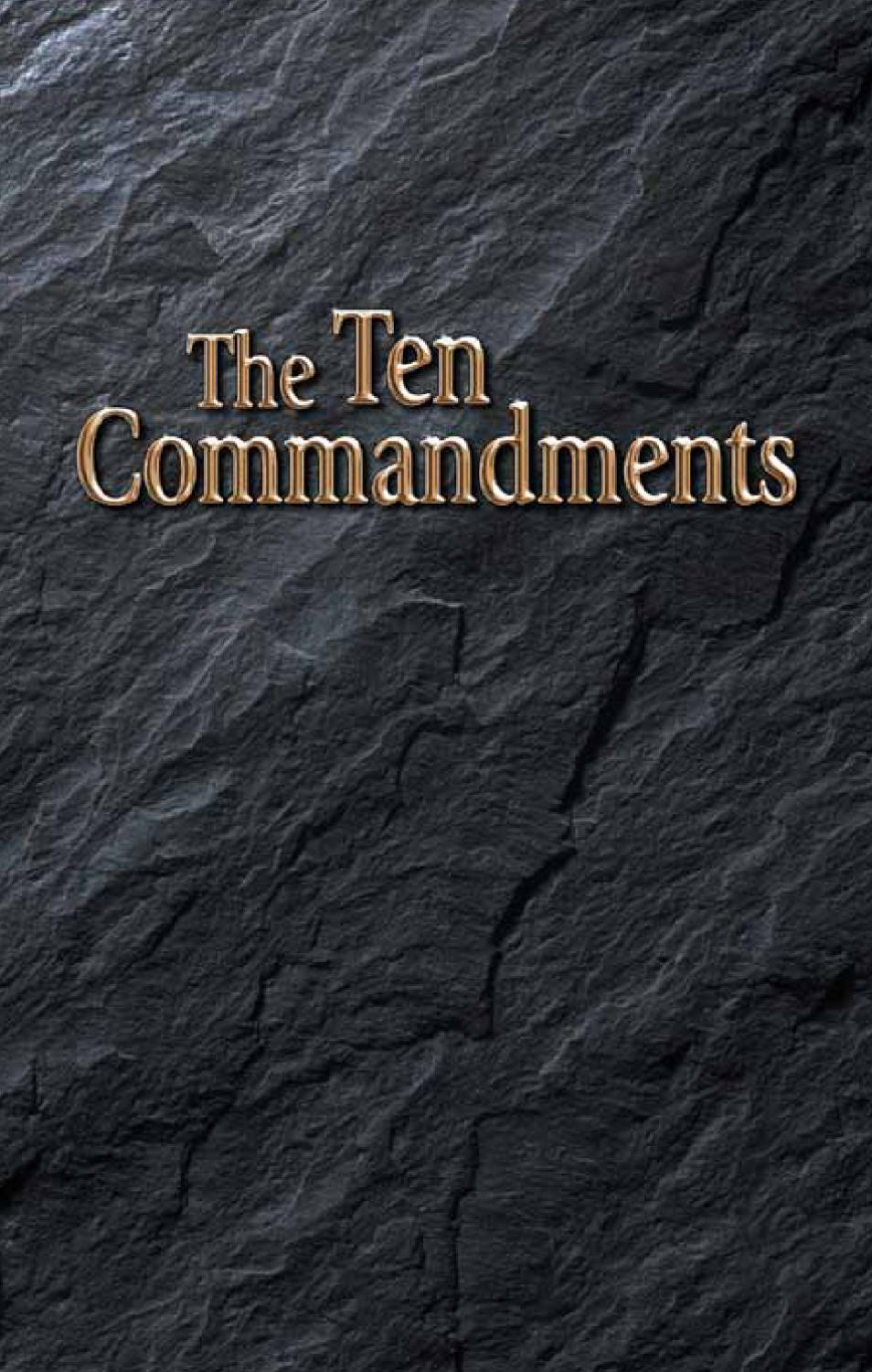 an analysis of the ten commandments The ten commandments, found in exodus 20:1–17 and  olson 1994 reads  deuteronomy 6–11 as interpretation and expansion of the first.
