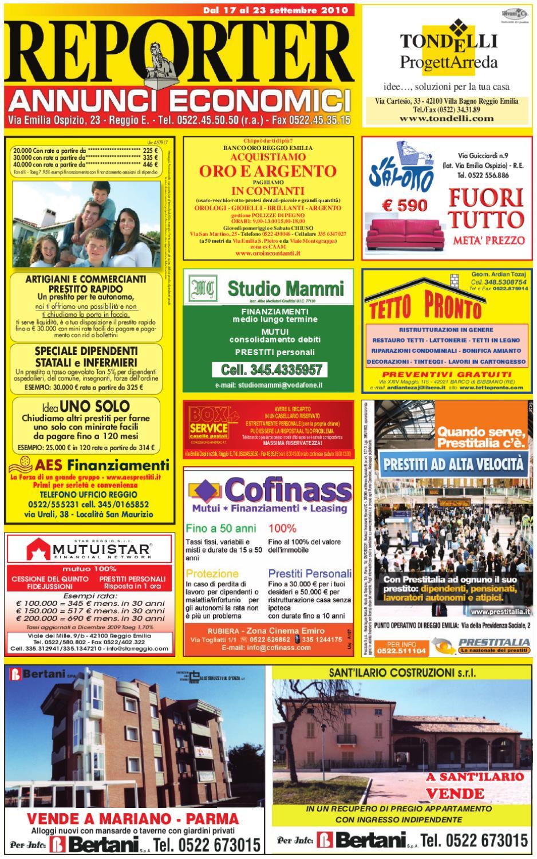Reporter Annunci 17 Settembre 2010 by Reporter - issuu 643e4f729a0