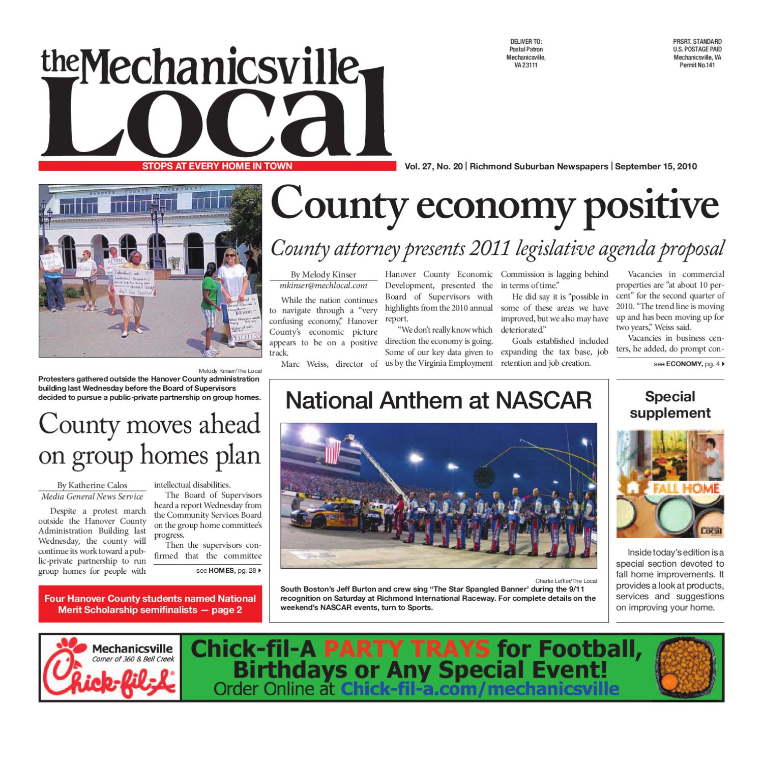 09 15 2010 By The Mechanicsville Local Issuu