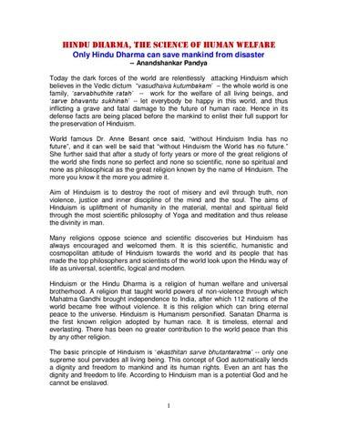 Hindu Dharma The Science Of Human Welfare By Swami Jyoti Issuu - How many hindus in the world