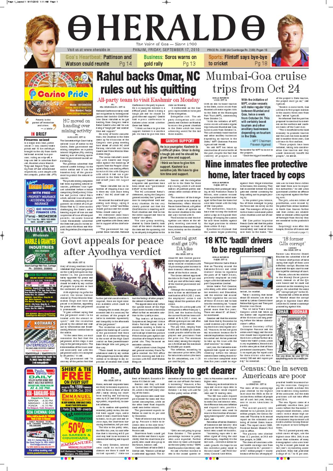 17 SEPT HERALD PUBLICATIONS PVT LTD by Herald Publications - issuu