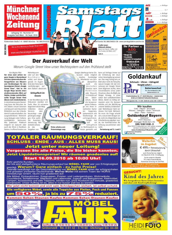 KW 37 2010 By Wochenanzeiger Medien GmbH   Issuu