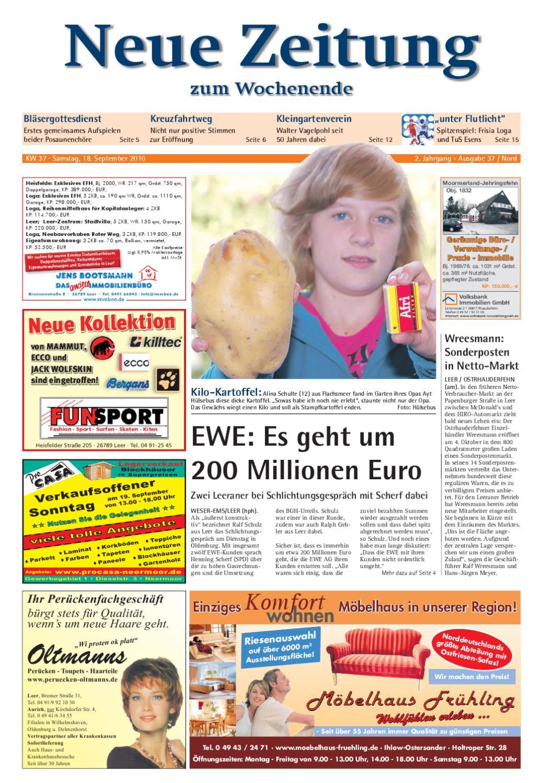 Neue Zeitung - Ausgabe Nord KW 37 by Gerhard Verlag GmbH - issuu