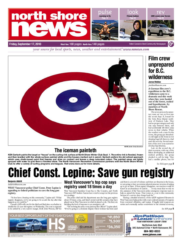 north shore news september 17 2010 by postmedia community publishing