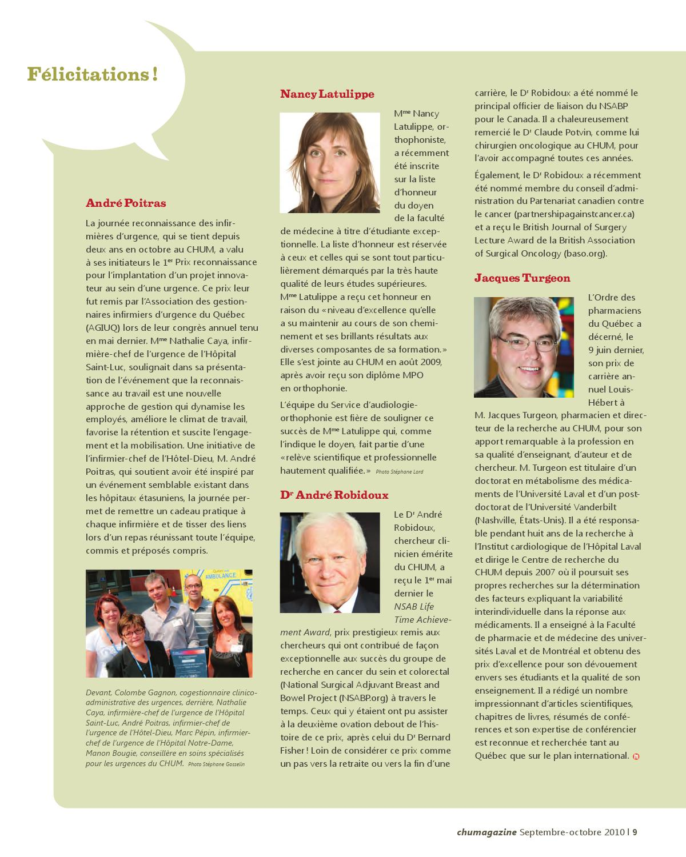 chumagazine, volume 1 numéro 4, septembre-octobre 2010 by