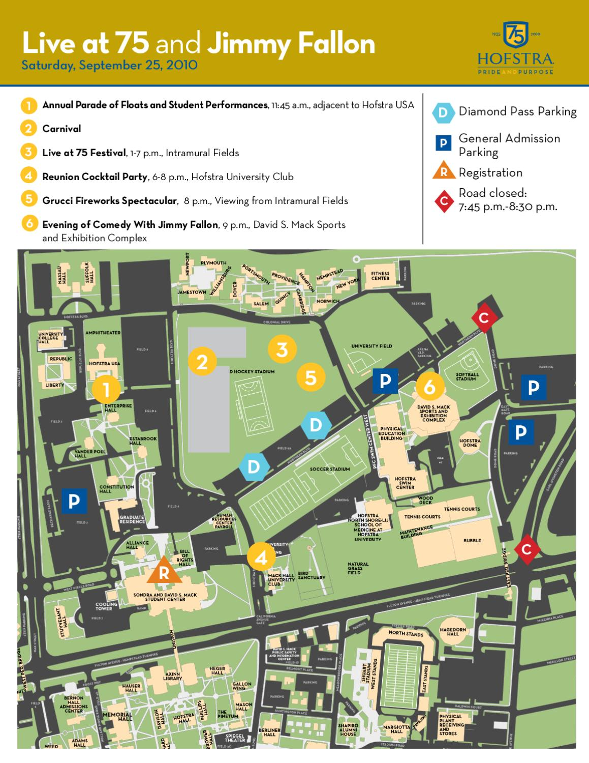 Live At 75 Event Map By Hofstra University Issuu