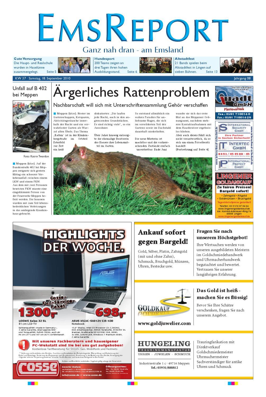 Der Ems Report Ausgabe Online KW3710 by Ems Report GmbH