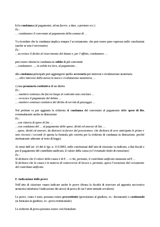 A. L'atto di citazione - sintesti delle slides by Valter ...
