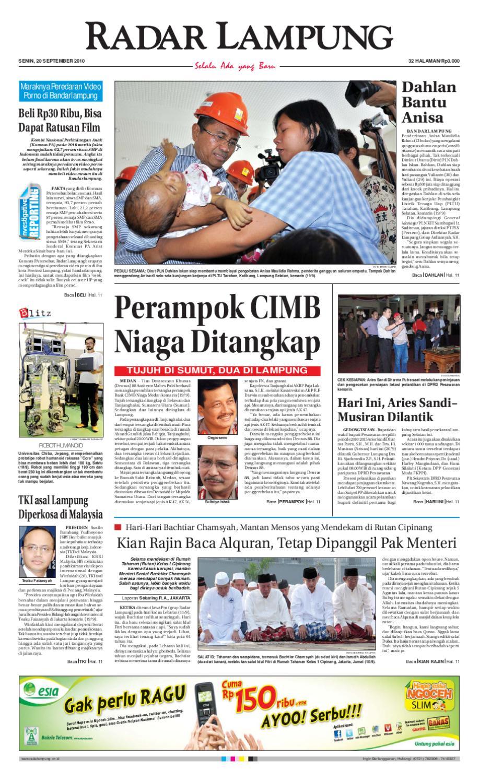 Radar Lampung Senin 20 September 2010 By Ayep Kancee Issuu Rkb Bni Tegal Kranjang Buah Nur Fashion And Art