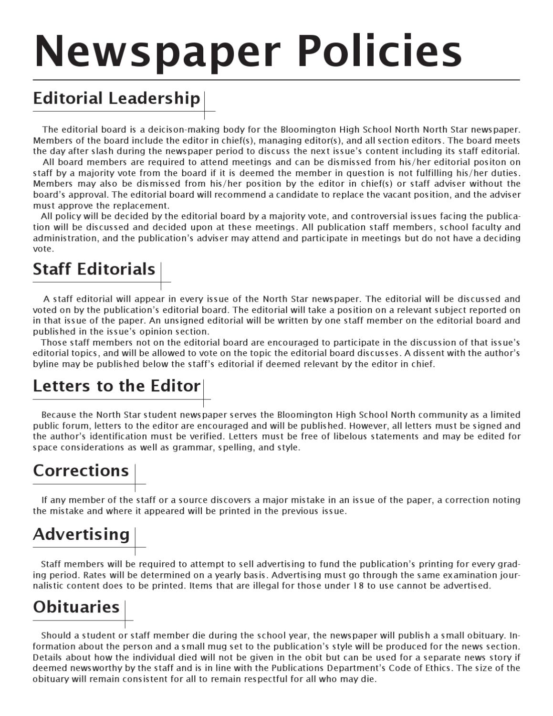North Publications Policies by Ryan Gunterman - issuu