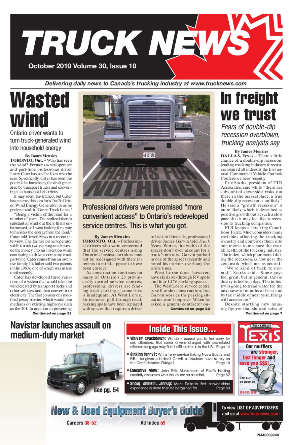 Truck News October 2010 by Annex Business Media - issuu on