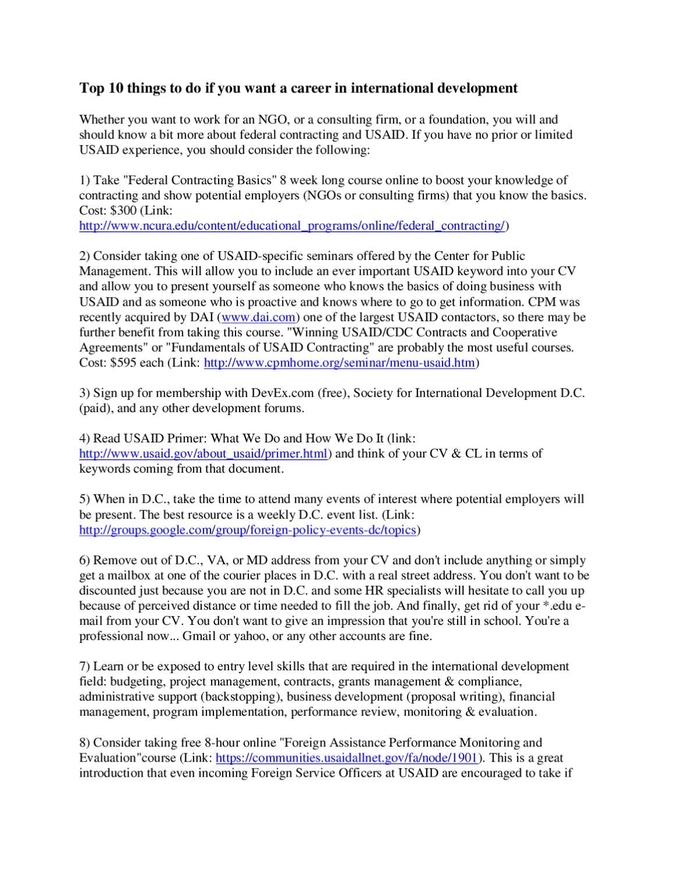 10 tips for career in international development by matt upton issuu 1betcityfo Gallery