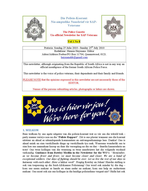 Police gazette 1 08 by hennie heymans issuu fandeluxe Choice Image