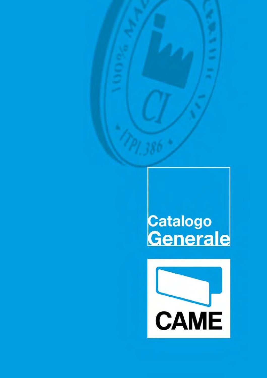 Catalogo Generale Came 2010 By Dodic Elettronic S R L Issuu