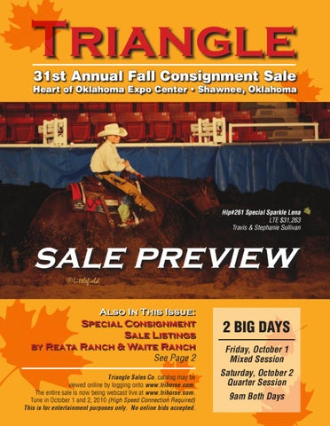 5379f02fbd0b 2010 Fall Consignment Preview by Triangle Horse Sales - issuu
