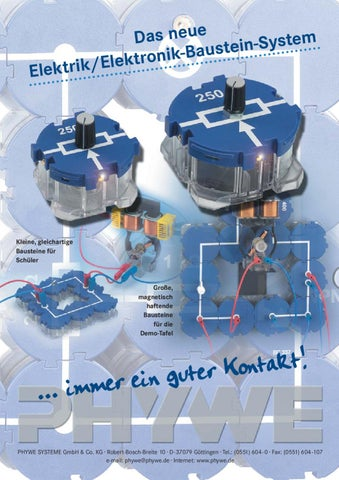 DE Physik: Elektrik-/ Elektronik-Baustein-System by PHYWE Systeme ...