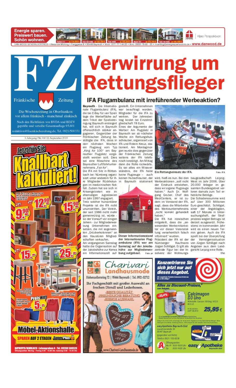 topowe marki nowe promocje niskie ceny Fränkische Zeitung vom 22.09.2010 by Nordbayerischer Kurier ...