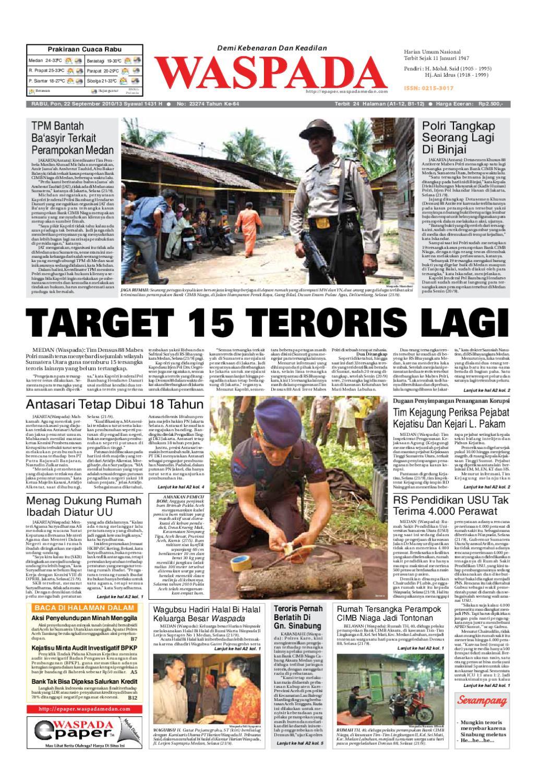 Waspada Rabu 22 September 2010 By Harian Waspada Issuu