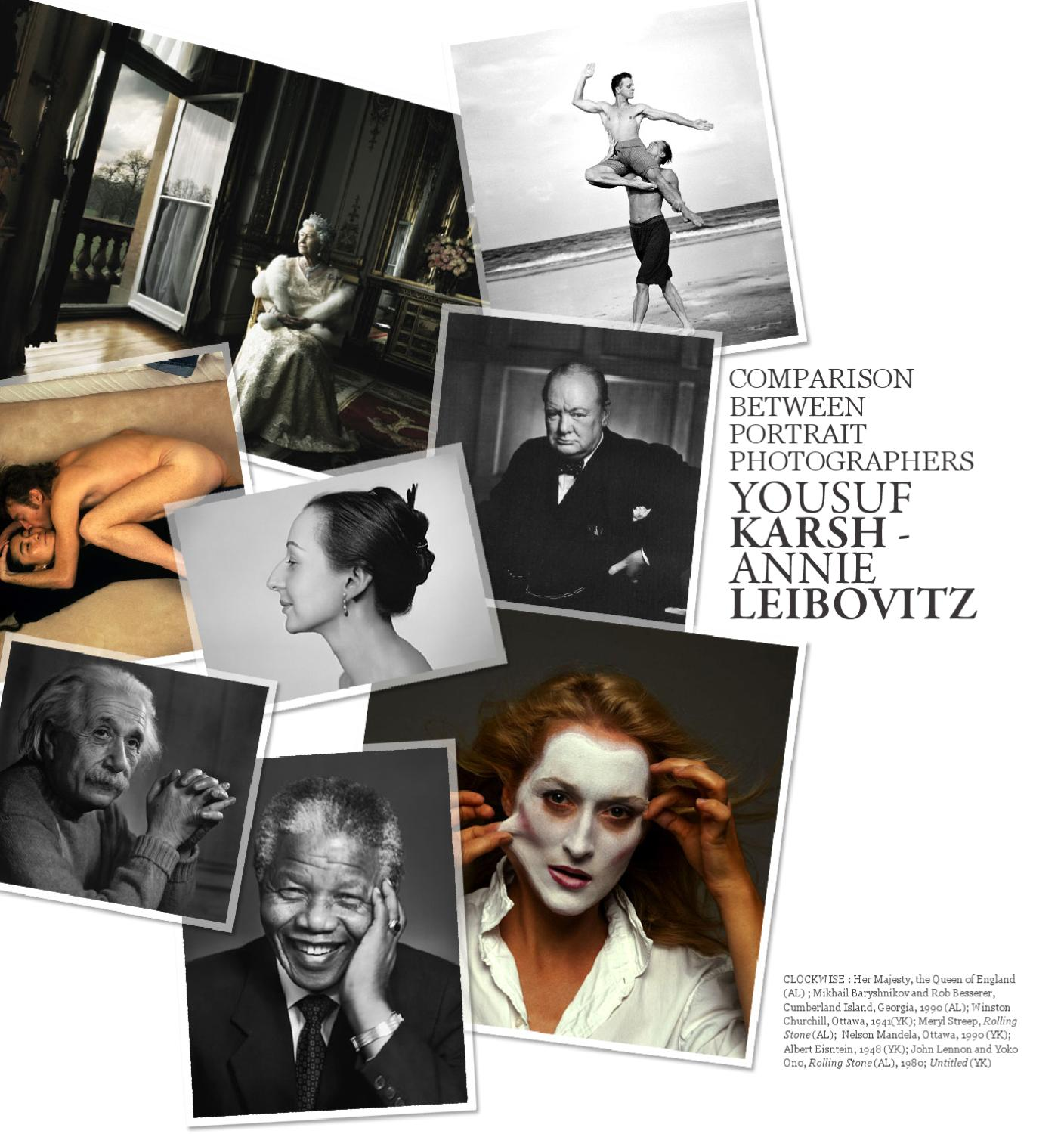Comparison Between Portrait Photographers Yousuf Karsh And Annie Leibovitz By Edi Go