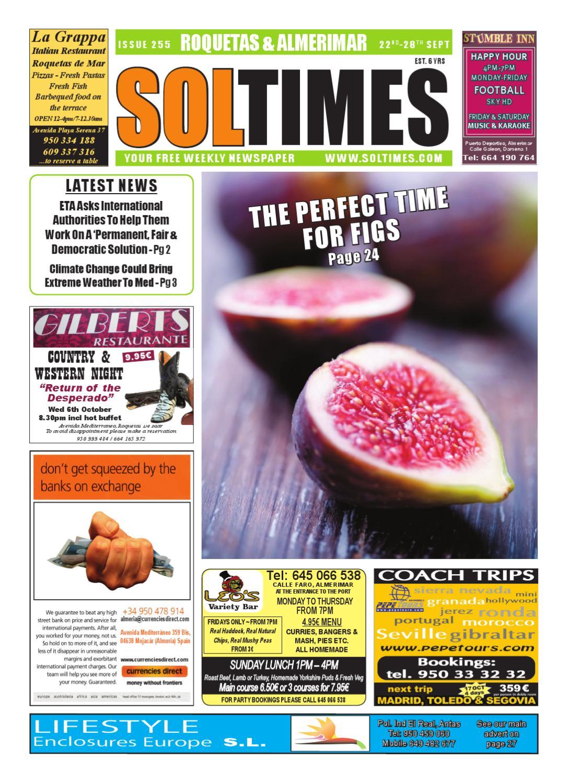 9eb350a2d Sol Times Newspaper Issue 255 Roquetas Edition by nigel judson - issuu