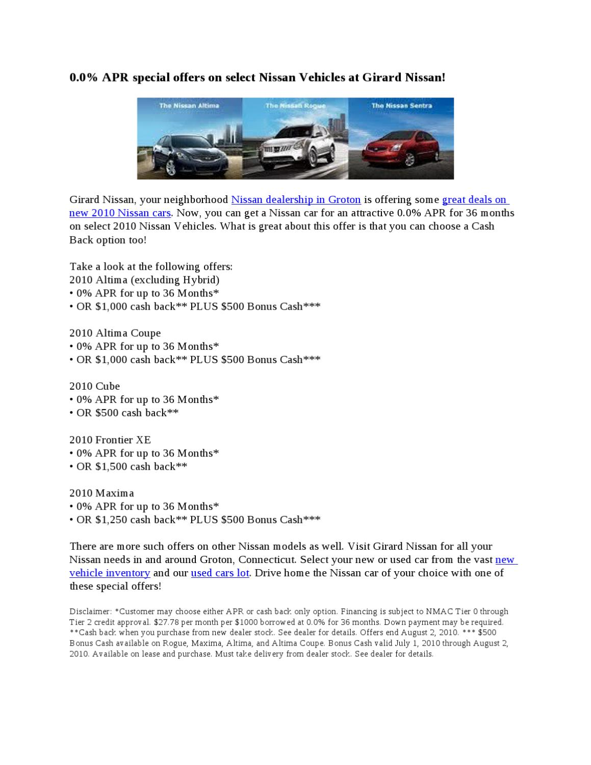 Car Loan And Auto Finance Groton Connecticut By Girard Nissan   Issuu